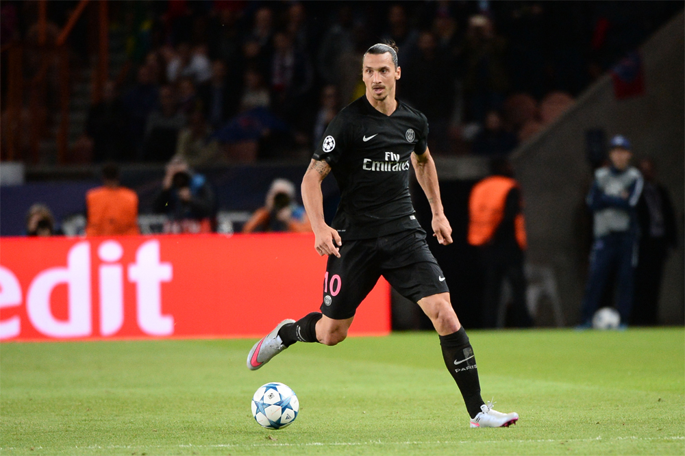 150915, Fotboll, Champions League, Paris Saint Germain - Malmö FF: Zlatan IBRAHIMOVIC  - 15.09.2015 - PSG / Malmo - 1ere journee Champions League Photo : Nolwenn Le Gouic / Icon Sport © Bildbyrån - COP 75 - SWEDEN ONLY